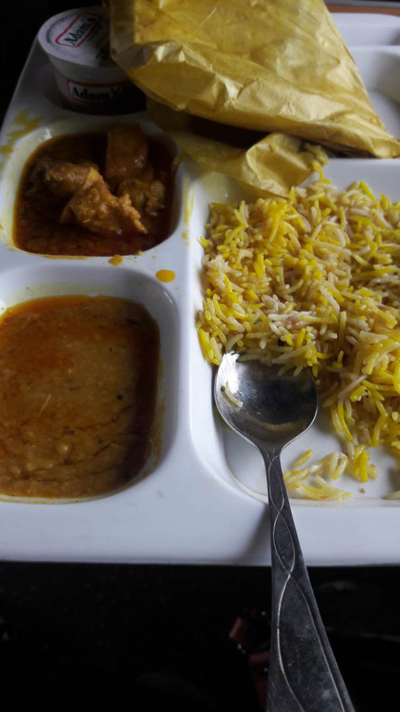 Lunch on GreenLine from Karachi to Islamabad