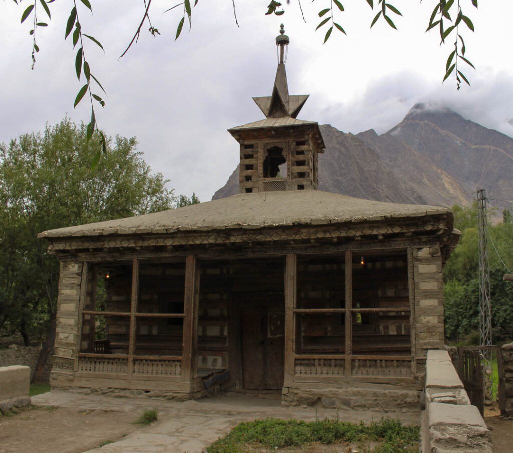 The 14th century Amburiq Mosque near Shigar Fort