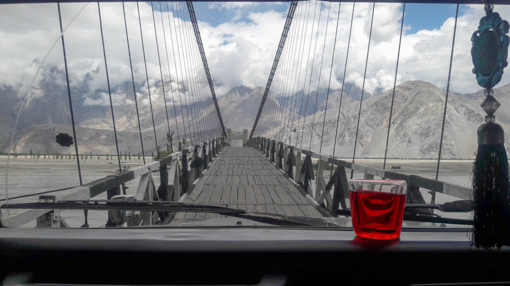 We had to cross this bridge on the way as well! Beautiful scenery on both left & right.