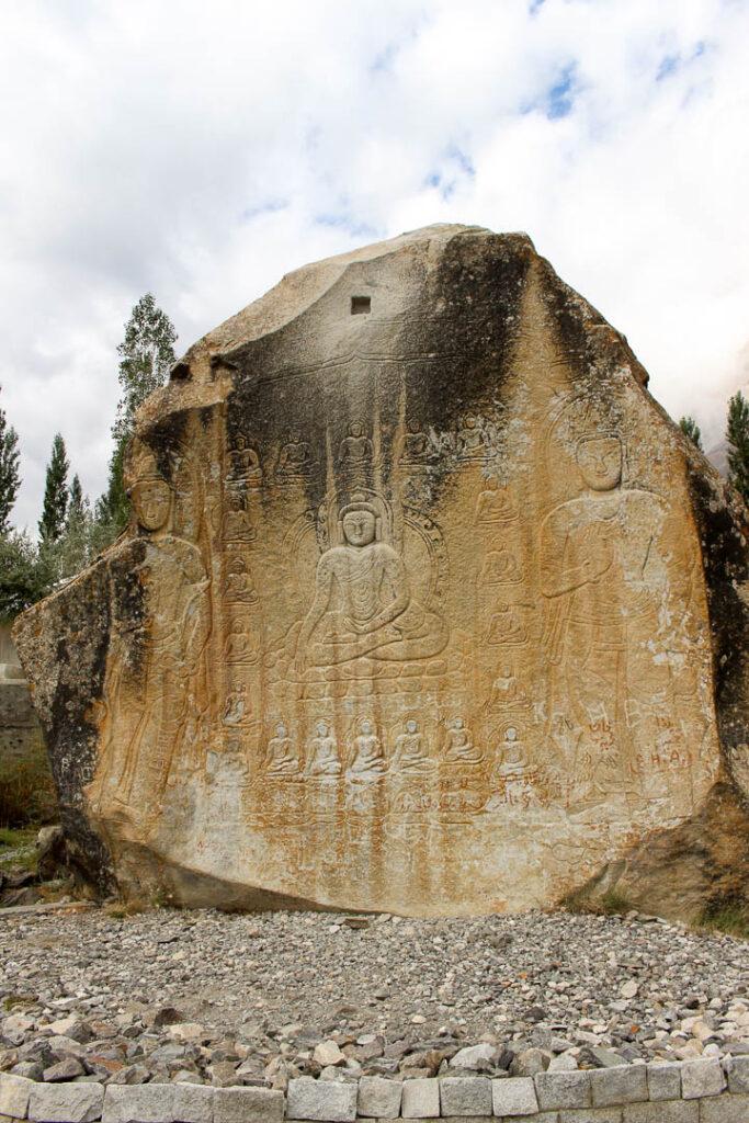 Manthal Buddha Rock in Skardu