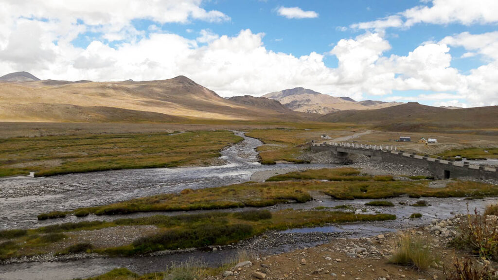 The bridge at Kala Pani at Deosai Plain