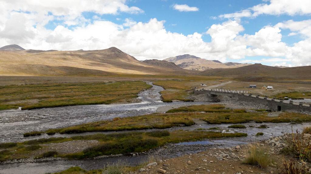 The bridge at Kala Pani at Deosai Plain