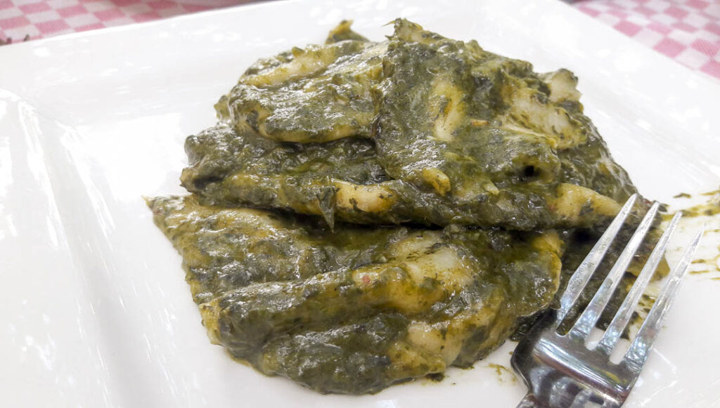 A spinach and bread dish. I have forgotten the name but definitely a must-try.