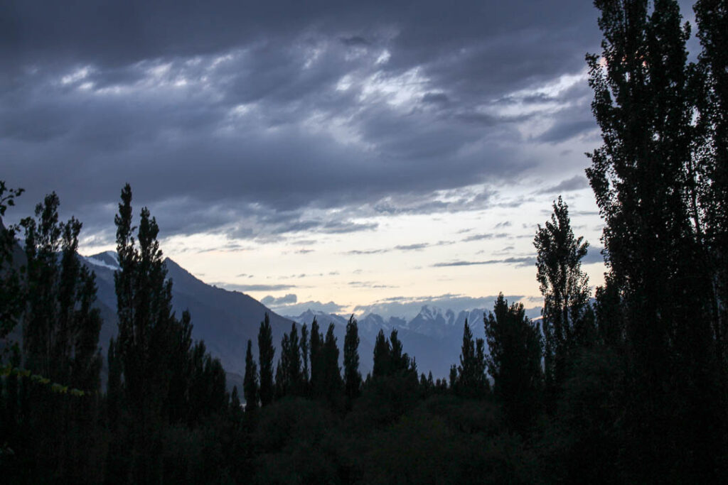 Sunset at Shigar Fort and Residency in Skardu
