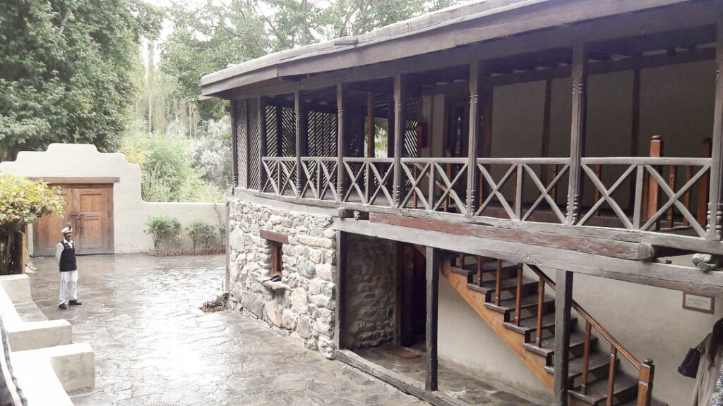 The reception and dining hall at Shigar Fort and Residency