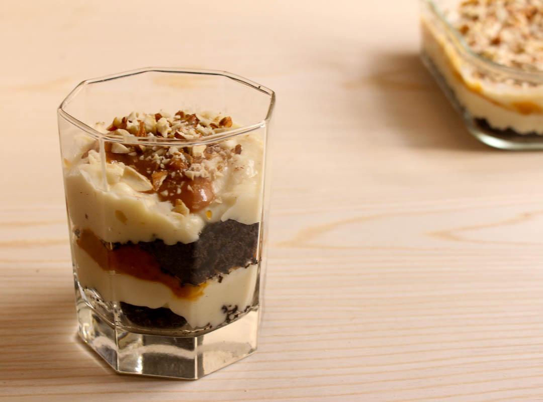 Oreo Vanilla Pudding with Salted Caramel