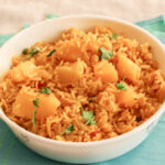 Aloo Tahari or Aloo Chawal a simple vegetarian one-pot dish made with rice and potatoes.