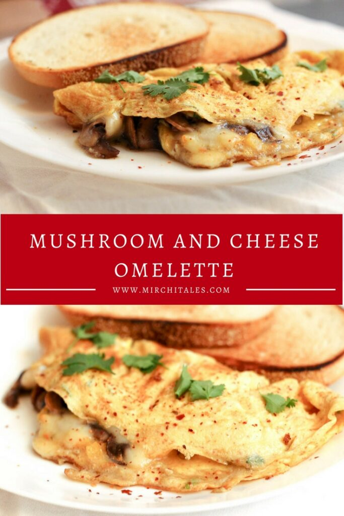 Make this stuffed mushroom and cheese omelette for breakfast and serve with tea and toasted bread. Or perhaps dinner with a light green salad on the side.