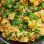 Bursting with flavor and lots of vibrant colors, aloo gobi matar sabzi is a Pakistani vegetarian recipe that can be served as a main meal or as a side dish with rice or roti.