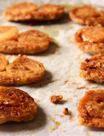 Palmiers or elephant ears are crunchy and crispy French biscuits that require two ingredients only, and one of them can be bought ready made from the store. Perfect with tea, coffee, or just eaten as a snack during the day.