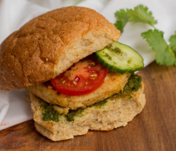Similar to a burger but far spicier, a bun kabab is the proverbial Pakistani street food snack. It features a potato and lentils patty in a tawa toasted burger bun, with lots of green chutney and sliced vegetables.