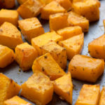 Roasted butternut squash is the simplest way to use this hearty winter vegetable. Just cut, toss in spices and bake till tender. Toast the seeds to make for a quick snack.