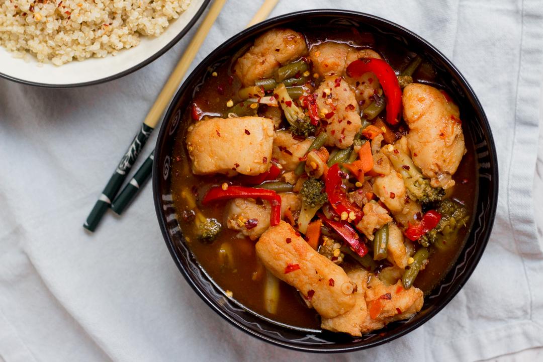 Fish And Vegetable Stir Fry Asian Stir Fry Mirchi Tales