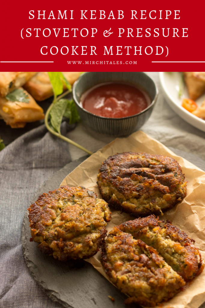 Shami kebab are beef patties made with boneless beef, chana daal (split bengal gram), onion, spices and herbs. This recipe makes a large batch so eat some right now, and freeze the rest for later.