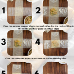 Step by step photos on how to make chicken box patties using samosa sheet or spring roll wrappers.
